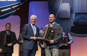 Andrew Boyle accepts Fleet Safety Grand Prize